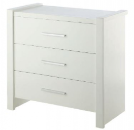 GO white Chest of 3 drawers 982 x 497 x 920 mm