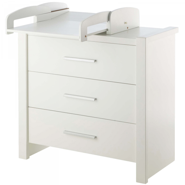 commode blanche go avec 3 tiroirs. Black Bedroom Furniture Sets. Home Design Ideas