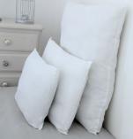 Oreiller blanc 40x60 cm spéciale non feu 100% polyester microfibre