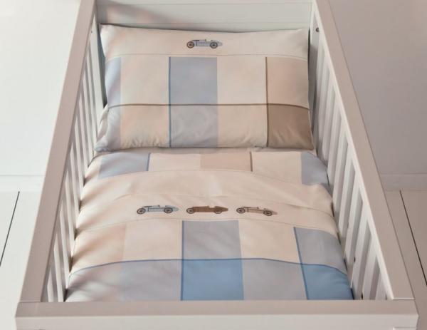 housse de couette lit cage 100x135cm 100 coton. Black Bedroom Furniture Sets. Home Design Ideas