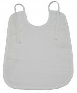 Bavoir éponge 29X38 cm 100% coton blanc